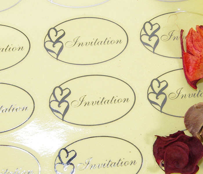 50 Pack Transparent Foil Wedding Invitation Envelope Heart Clear Seal Stickers
